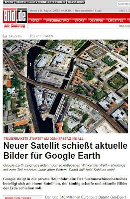 Read more about the article Google schießt eigenen Satelliten in den All für aktuelle Satellitenbilder