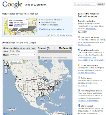 Read more about the article Google zeigt Live die Wahlen in den USA