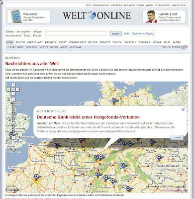 Read more about the article Welt.de – Nachrichtenkarte zeigt News aus aller Welt