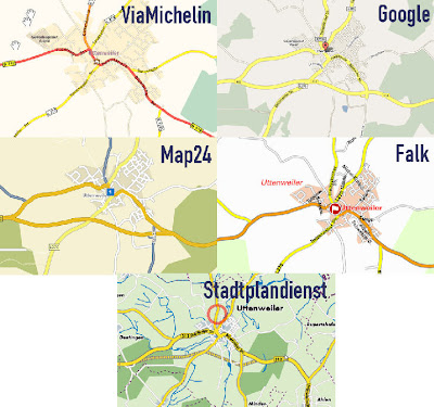 Read more about the article Map24 und Google haben die aktuellsten Landkarten im Internet. ViaMichelin enttäuscht total.