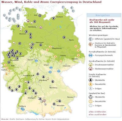 Read more about the article Deutschlands Energieversorgung als Landkarte
