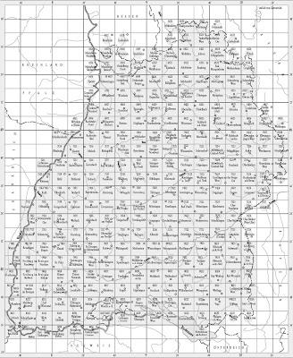 Read more about the article Blattschnitt: Topographische Karte von Baden-Württemberg 1:25.000, 1:50.000, 1:100.000 & 1:200.000