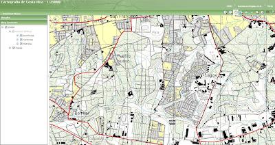 Read more about the article Online: Topographische Karte 1:25.000 von Costa Rica