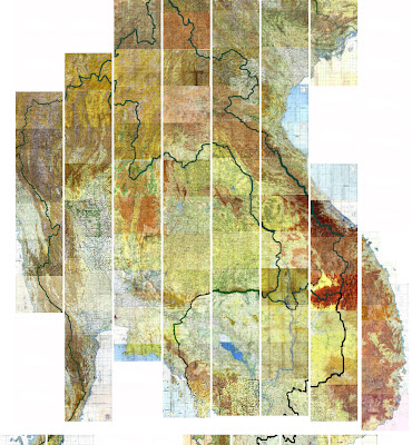 Read more about the article Online: Topographische Karte 1:250.000 von Thailand, Kambotscha. Laos und Vietnam