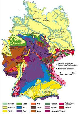 Read more about the article Geologische Landkarte von Deutschland