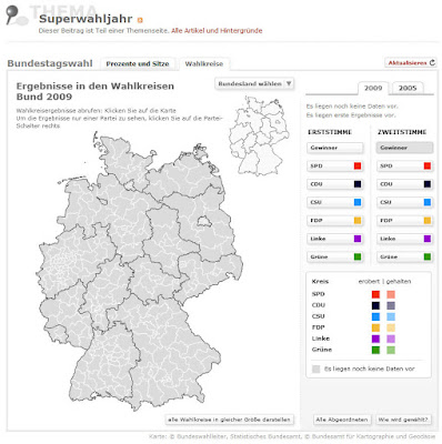 Read more about the article Umfassende Statistiken und Landkarten zur Bundestagswahl 2009 (und 2005)