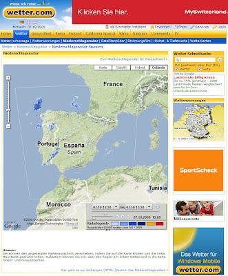 Read more about the article Niederschlagsradar für Spanien und Portugal