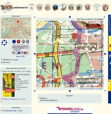 Read more about the article Online: Original Falk Stadtplan von Berlin aus dem Jahre 1966