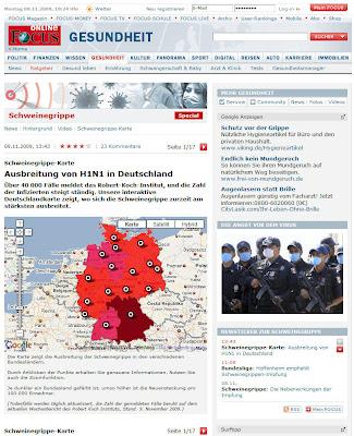 Read more about the article Focus: Schweinegrippe (H1N1) in Deutschland