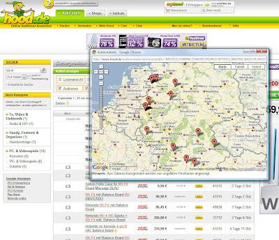 Read more about the article Auktionshaus Hood zeigt Artikel in einer Landkarte