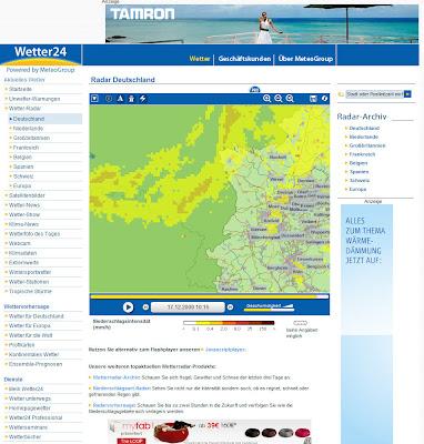 Read more about the article Wetter24 mit sehr guten Wetterradar für Westeuropa