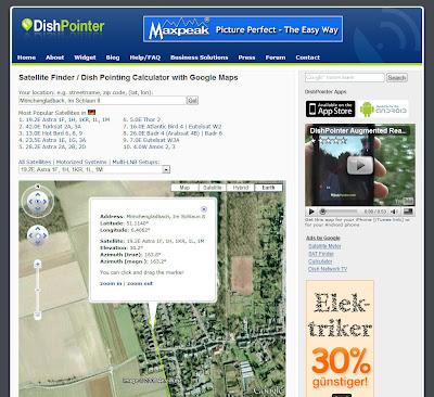 Read more about the article DishPointer hilft ihre Satellitenschüssel perfekt ausrichten