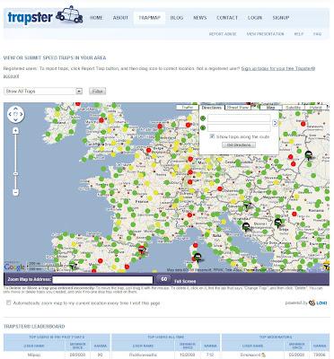 Read more about the article trapster zeigt weltweit mobile und festinstallierte Radarfallen und warnt sie in der Routenplanung davor