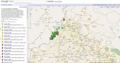 Read more about the article Auf den Spuren von Bin Laden? Google Map zeigt Drohnenattaken der USA in Pakistan (seit 2004)