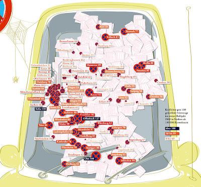 Read more about the article Deutschlandkarte: Wo werden in Deutschland die meisten Strafzettel geschrieben