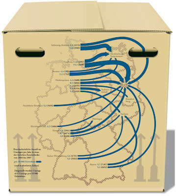 Read more about the article Deutschlandkarte: Berlin, Leipzig, Dresden und Erfurt sind beliebte Umzugsziele von Westdeutschen