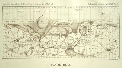 Read more about the article Der Mars gezeichnet von Giovanni Schiaparelli (1873-1878)