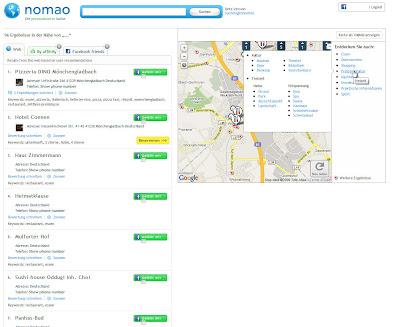 Read more about the article nomao – Eine lokale Suchmaschine für Restaurants, Hotels und vieles mehr
