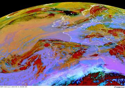 Read more about the article Eumetsat: Aktuelles Satellitenbild zeigt sehr gut die Vulkanasche die Richtung Europa zieht!