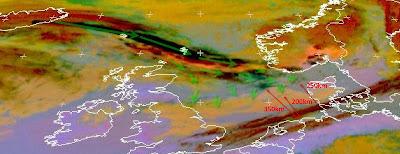 Read more about the article Eumetsat: Aktuelles Satellitenbild der Aschewolke! Noch 200km bis Deutschland aber ihr geht die Luft aus!