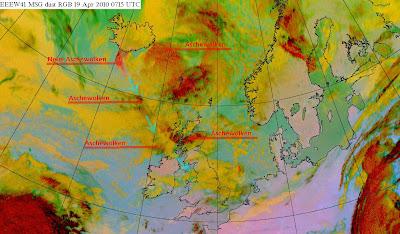 Read more about the article Eumetsat: Aktuelles Satellitenbild der Aschewolke vom Vulkanausbruch auf Island. Neue Aschewolken kommen!