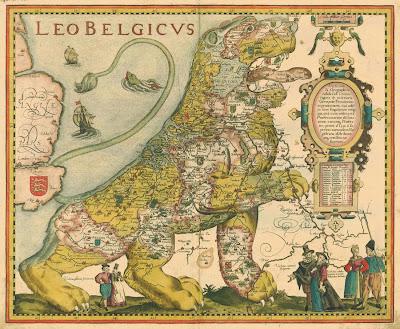 Read more about the article Landkartenkunst: Der belgische Löwe brüllt