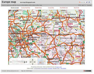 Read more about the article Eine Europakarte im Maßstab 1:4.500.000 ist im Internet zu sehen