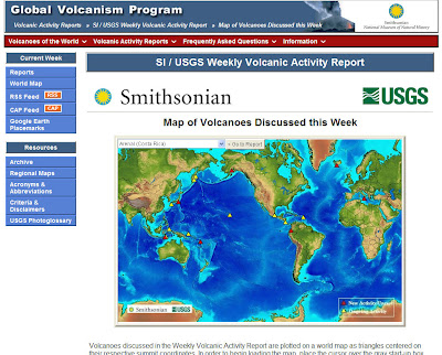 Read more about the article USGS Global Volcanism Program zeigt alle Vulkanaktivitäten weltweit