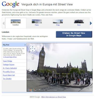 Read more about the article Google zeigt wie schön es europäische Metropolen im Street View zeigt