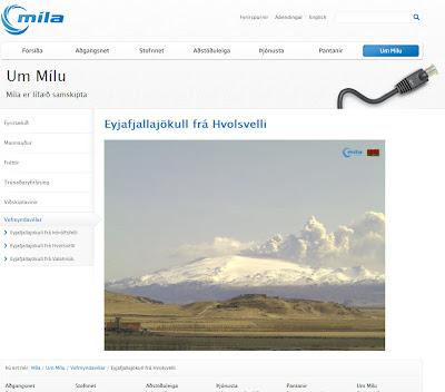 Read more about the article Mila: Drei Livewebcam vom Vulkanausbruch des Eyjafjallajökull auf Island online abrufbar