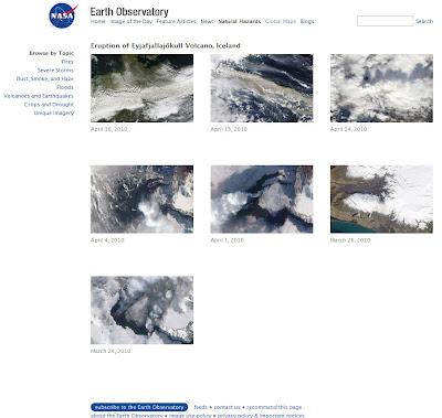 Read more about the article Sehen Sie alle NASA Satellitenbilder vom Vulkanausbruch des Eyjafjallajökull auf Island