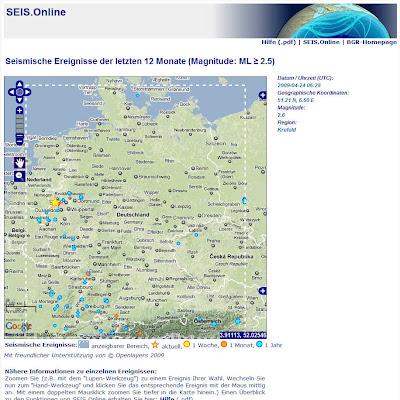 Read more about the article BGR zeigt aktuelle Erdbeben in Deutschland in einer interaktiven Karte. Jeden Tag wackelt Deutschland mehrfach!