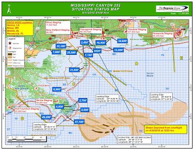 Read more about the article Offizielle und aktuelle Übersichtskarte von der Ölkatastrophe am Missisipidelta im Golf von Mexiko