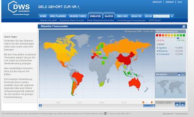 Read more about the article DWS Finanzwetter zeigt alle weltweiten Börsenländer in ihrer Entwicklung seit 2005