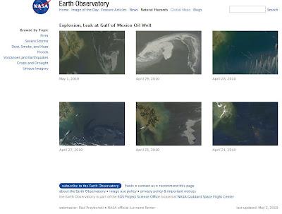 Read more about the article NASA zeigt Sammlung von Satellitenbildern vom Ölteppich im Golf von Mexiko