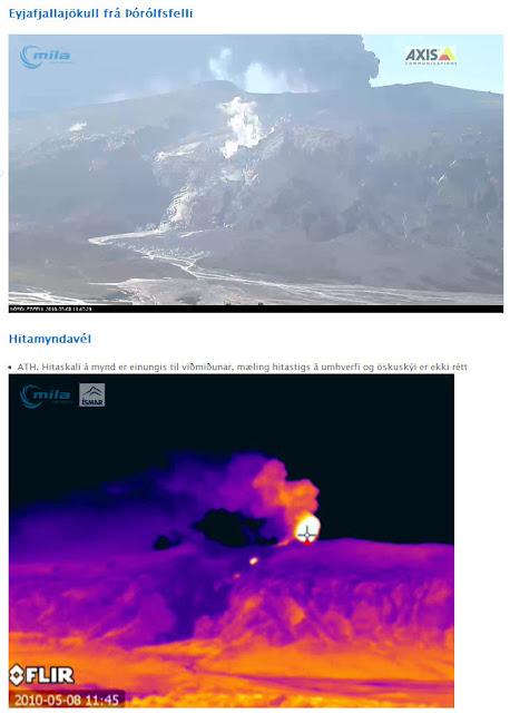 Read more about the article Neue Webcam zeigt die Wärme der Lava des Vulkan Eyjafjallajökull auf Island