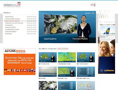 Read more about the article meteonews.tv – Das schweizer Wetterfernsehen Live im Internet