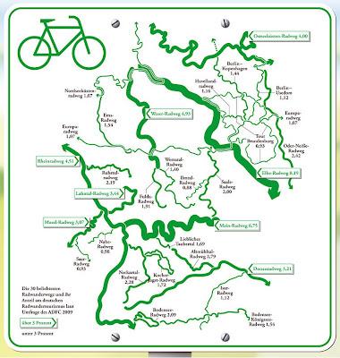Read more about the article Deutschlandkarte: Die beliebtesten Radwanderwege Deutschlands