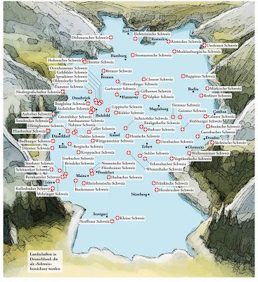 Read more about the article Deutschlandkarte: Die Schweiz in Deutschland