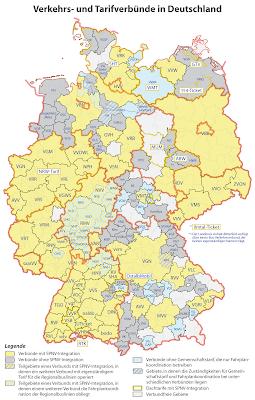 Read more about the article Deutschlandkarte der Verkehrs- und Tarifverbünde im öffentlichen Personennahverkehr in Deutschland