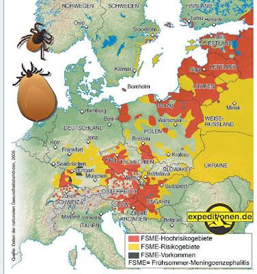 Read more about the article Borreliose in Europa. Auch in Mittel- und Süddeutschland gibt es Risikogebiete