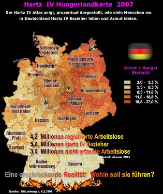 Read more about the article Die Hartz IV Deutschlandkarte zeigt die Problematik in Ostdeutschland und in Großstädten in ganz Deutschland