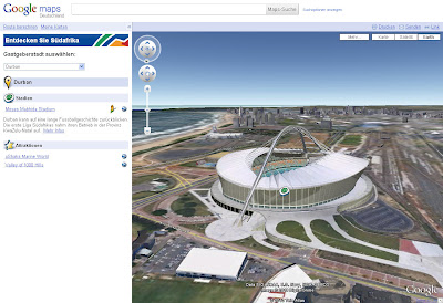 Read more about the article WM 2010 – Entdecken Sie Südafrika dank Google Maps in 3D