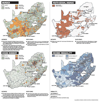 Read more about the article Landkarte zeigt Kriminalität und Brennpunkte in Südafrika