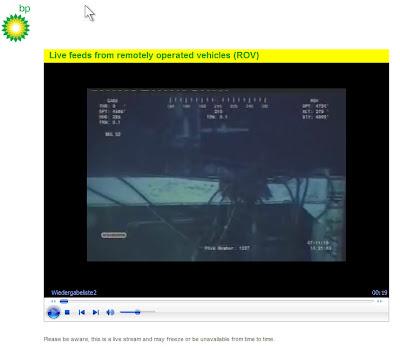 Read more about the article Live Webcam vom BP Bohrloch Unterwasser im Golf von Mexiko
