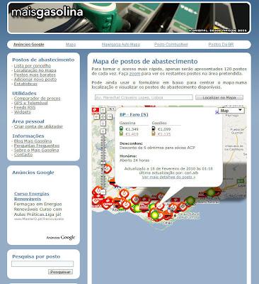 Read more about the article maisgasolina zeigt wo man in Portugal zur Zeit billig (oder teuer) tanken kann