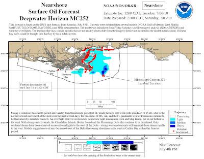 Read more about the article Ölkatastrophe im Golf von Mexiko: Aktuelle Lagepläne zeigen das der Ölteppich die Küste abgedeckt hat.