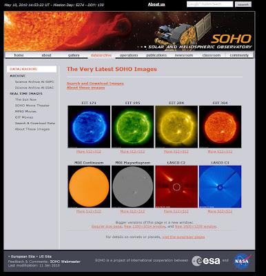 Read more about the article NASA und esa zeigt täglich aktuelle Satellitenbilder der Sonne