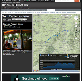 Read more about the article Wall Street Journal zeigt schöne Etappenübersicht der Tour de France 2010