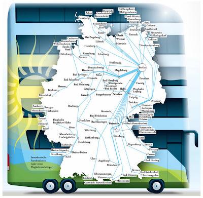 Read more about the article Deutschlandkarte zeigt Fernbusse in Deutschland